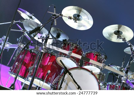 The drums set - stock photo