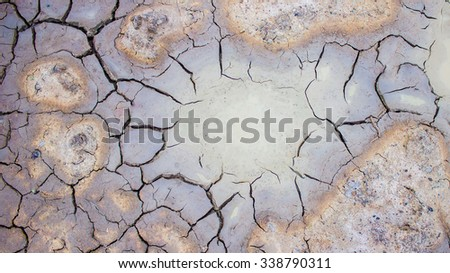 The dry soil textures on  the ground - stock photo