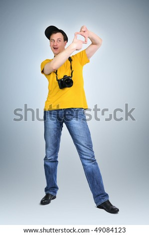 The dude the photographer - stock photo