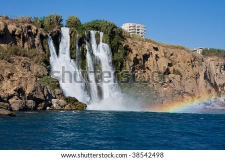 The Duden waterfall in Antalya. Turkey - stock photo