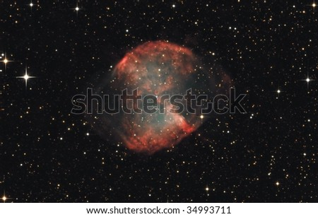 The Dumbbell Nebula M27 - stock photo