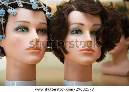 The dummy in beauty salon - stock photo