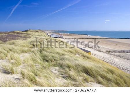 the dunes, Zoutelande, the Netherlands - stock photo