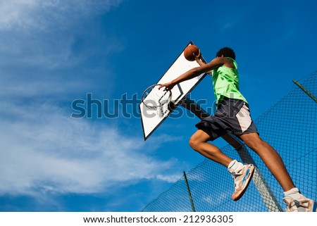 the dunk - stock photo