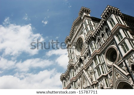 The Duomo against the cloudy sky (Florence, Italy)