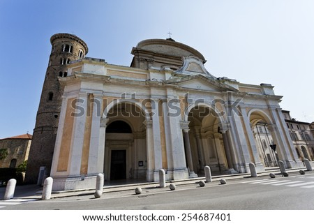 The Duomo is the new Cathedral built in the 18th century in Ravenna, Italy  - stock photo