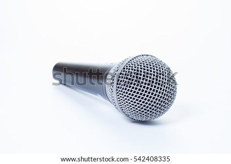 the dynamic microphone isolated on white background