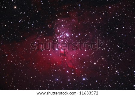 The Eagle Nebula M16 - stock photo