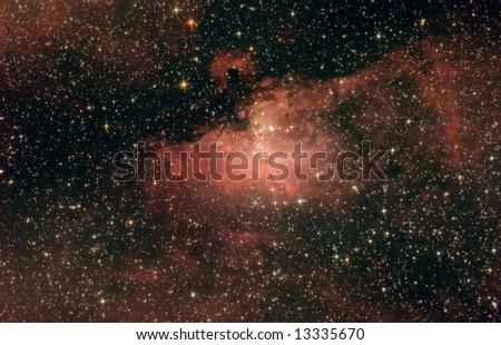 The eagle nebula, M16 - stock photo