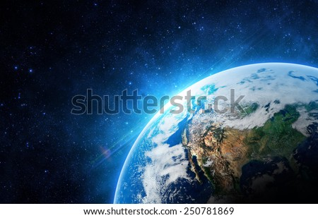 The Earth - Elements of this Image Furnished by NASA - stock photo