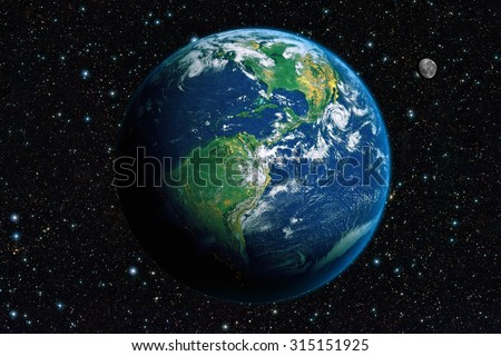 The Earth from space. America - stock photo