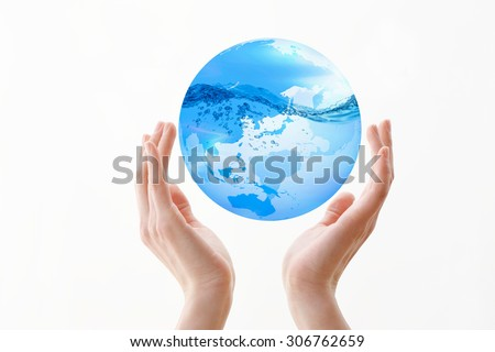 The earth, hand
