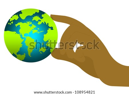 The Earth in Your Hand For Stop Global Warming or Save The Earth Concept Isolated on White Background