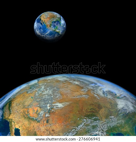 the earth ,including elements furnished by NASA - stock photo