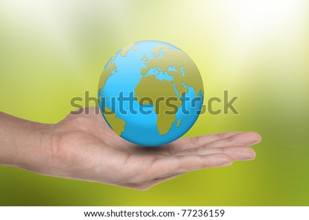 the Earth is in your hands - stock photo