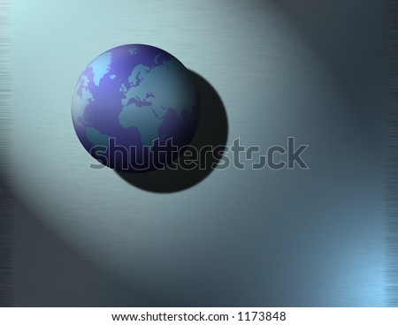 The earth on a desktop - stock photo