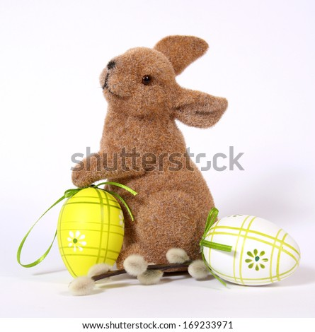 The Easter Bunny with Eggs  - stock photo