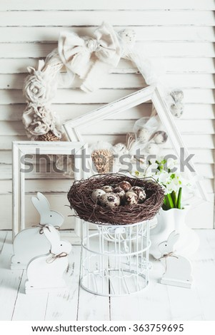 The Easter decorations - stock photo