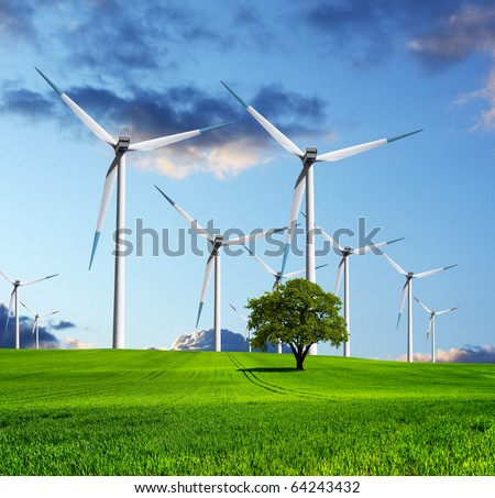 The ecological future of the industry - stock photo