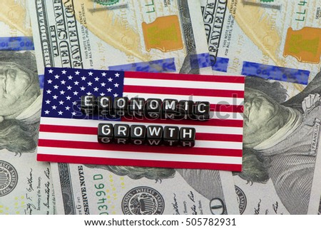 The economic growth of US GDP in the concept