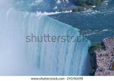 The edges of Niagara fall - stock photo