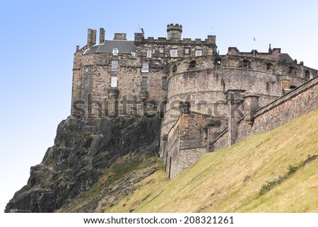 The Edinburgh Castle, Scotland, UK - stock photo