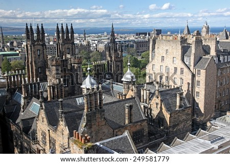 The Edinburgh, Scotland, UK - stock photo