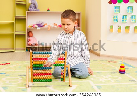 The educational games - stock photo