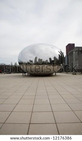 The Egg Chicago Millenium Park Architectural Details - stock photo
