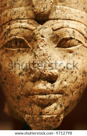 The Egyptian sculpture face - stock photo