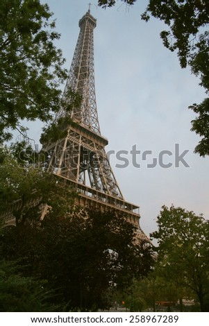 The Eiffel Tower.  - stock photo