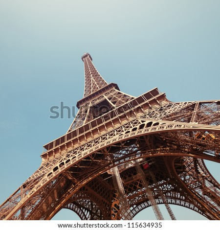 The Eiffel Tower in Paris. - stock photo