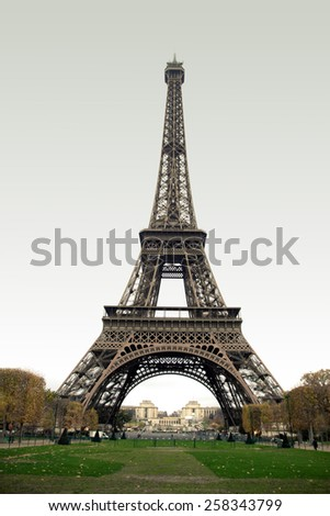 The Eiffel Tower in Paris. beautiful photos of Europe - stock photo