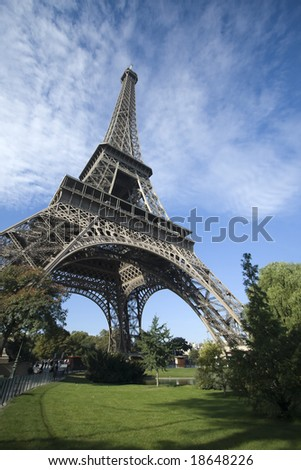 The Eiffel Tower is an iron tower