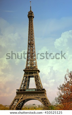 The Eiffel Tower is one of the world's most famous landmark in Paris, France.