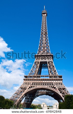 The Eiffel Tower of Paris - stock photo