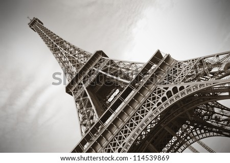 The Eiffel Tower, Paris - stock photo