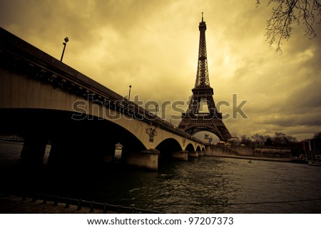 The Eiffel Tower . Paris - stock photo