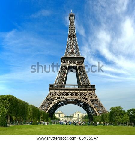 The Eiffel Tower, Paris France - stock photo