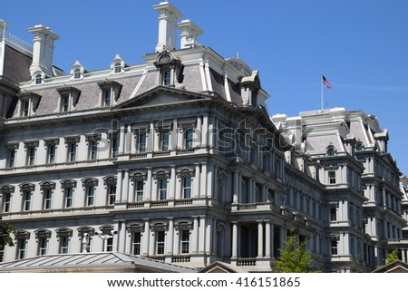 The Eisenhower Executive Office Building in Washington DC - stock photo