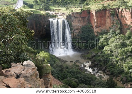 The Elands River Waterfall at Waterval Boven in Mpumalanga, South Africa - stock photo