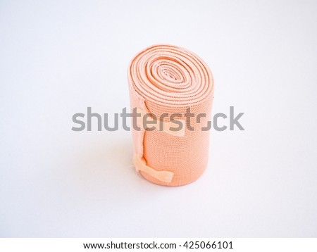 The Elastic bandage isolated on white background - stock photo