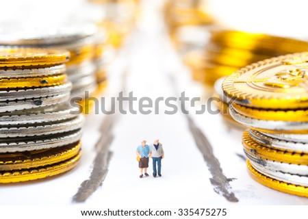 The elderly and money - stock photo