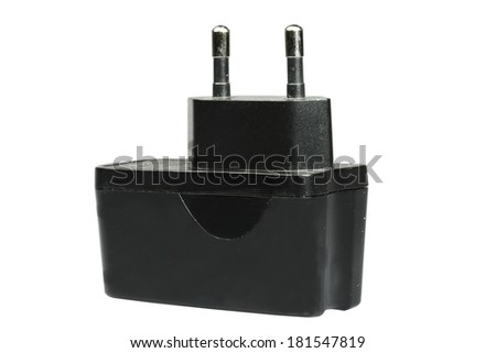 The electric device on a white background