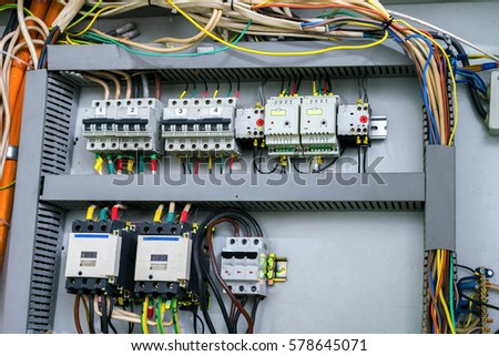 The Electrical Control Panel Is Mounted In A Box