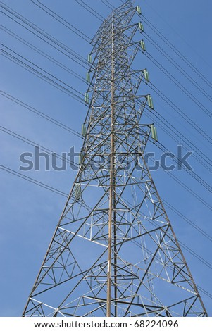 the electricity post is high-tension
