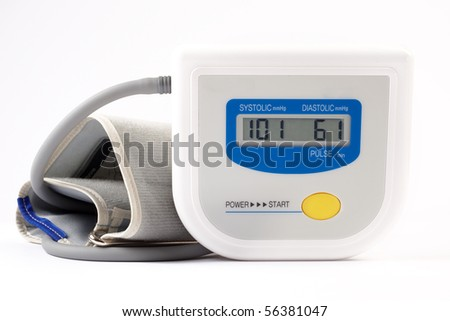 The electronic device for measurement pressure - stock photo