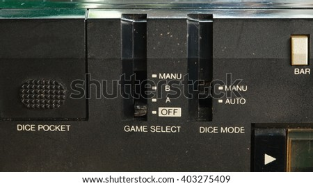 The electronic portable computer game represent the electronic board game and technology concept related idea. - stock photo