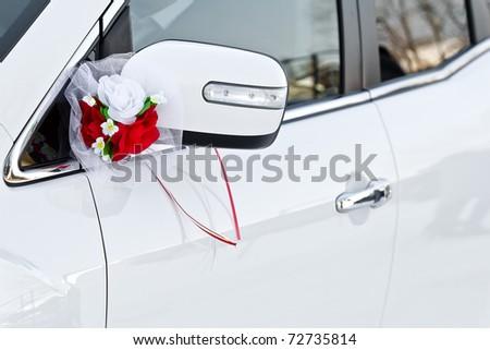 The elegant car for a wedding celebration - stock photo