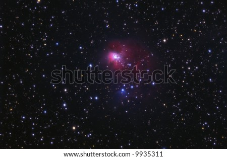 The Embryo Nebula NGC1931 - stock photo